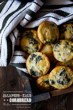 Gluten-Free Skinny Jalapeno Kale Cornbread Muffins | sharedappetite.com  They are low-fat, low-sugar, packed with healthy kale, and are kept moist with a secret ingredient... cottage cheese!