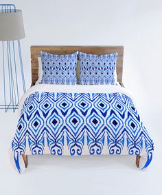 Take a look at this Blue Ikat Duvet Cover by DENY Designs on #zulily today! $120-$160 !!