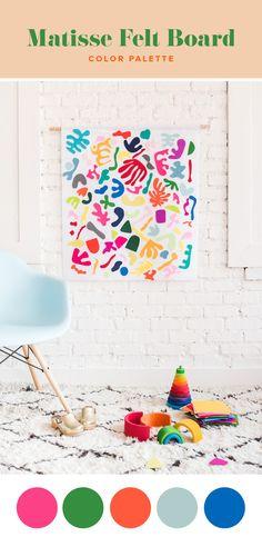 DIY Matisse Felt Board - The House That Lars Built