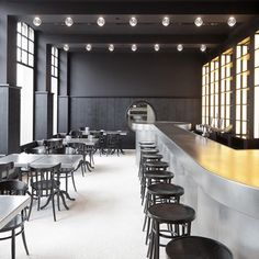Next up in our round up of popular drinking establishments from the pages of dezeen.com is the Volkshaus Basel Bar and Brasserie by Herzog de Meuron- bar, interior, design