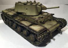 Russian WWII tank model. #KV-1. Soviet. #Friulmodellismo tracks and eduard photo etch detail set. #Russian #tank.
