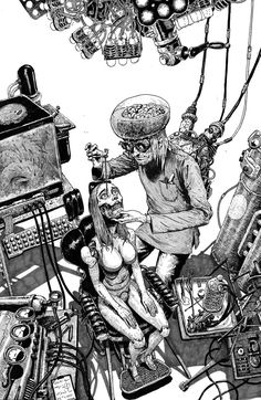 previously Hitokiri-battosai (account was terminated) I'll probably make you uncomfortable 29 body modification gore anime/manga Dir en Grey Yakuza Vertigo comics video games bdsm foreign cinema. Arte Horror, Horror Art, Art Sketches, Art Drawings, Character Art, Character Design, Arte Ninja, Arte Cyberpunk, Arte Obscura