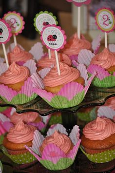 "Photo 1 of 35: Pink & green Ladybugs / Birthday ""Keira's 2nd Pink Ladybug birthday party!"" | Catch My Party"