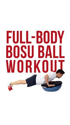 Work your whole body using one piece of equipment! Visit our blog to give this Bosu Ball workout a try! Whole Body Workouts, Bosu Ball, Full Body, Squats, Push Up, Exercise, Blog, Ejercicio, Excercise