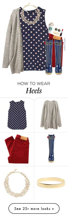 """Follow @curly-girl16-icons"" by thedancersophie on Polyvore featuring Levi's Made & Crafted, Equipment, Joules, H&M, Kate Spade, Fornash and MAC Cosmetics"