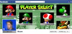 Mario Kart Facebook Profile -- So awesome.