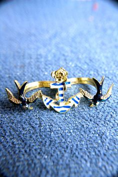 Anchors Away Double Ring @Anna Fredendall