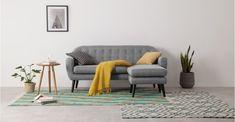 Ritchie Chaise End Corner Sofa, Pearl Grey Corner Sofa Living Room, Living Room Decor, Sofa Design, Lounge Furniture, Furniture Design, Flat Ideas, Gray Sofa, Bunt, Love Seat
