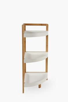 These stylish shelving units are perfect for your bathroom. The modern design not only looks good but is also extremely functional as a display or for stor