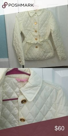 Lilly Pulitzer White Puffer Jacket Peacoat XS Off white in color. Never worn, but the tag fell off. No damage. Lilly Pulitzer Jackets & Coats Pea Coats