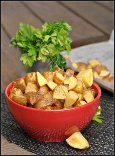 Salt and Vinegar Roasted Potatoes...SO good!