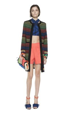 #MMissoni | Multicolor raffia trench | Summer 2014 Collection