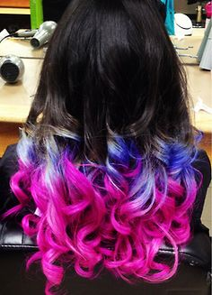 omg love love love this if only i could do this to my hair without coloring it like use extentions or something along those lines love pink and purple