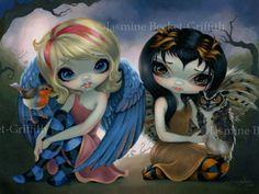 Jasmine-Becket-Griffith-BIG-art-print-fairy-birds-robin-SIGNED-Owlyn-and-Robyn