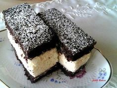 Habkönnyű grízes-kókuszos szelet Czech Recipes, My Recipes, Cookie Recipes, Cold Desserts, No Bake Desserts, Dessert Recipes, Hungarian Desserts, Hungarian Recipes, Cake Bars