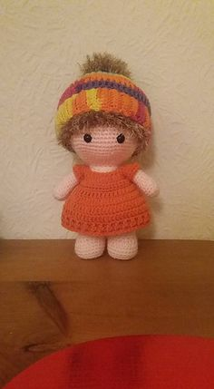 Ravelry: Weebee Doll - Messy Bun Hat pattern by Laura Tegg