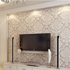 House Ceiling Design, Bedroom Wall Paint, Living Room Tv Unit Designs, Wall Texture Design, Accent Walls In Living Room, Gold Wallpaper Living Room, Ceiling Design Living Room, Room Partition Designs, Design Living Room Wallpaper