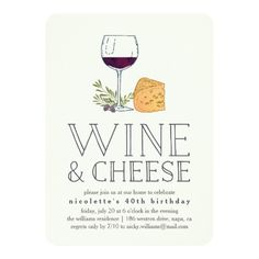 Shop Any Occasion Wine and Cheese Party Invitation created by RedwoodAndVine. Wine Tasting Events, Wine Tasting Party, Tasting Room, Wine And Cheese Party, Wine Cheese, Housewarming Party, Housewarming Invitations, Wein Parties, Rustic Birthday
