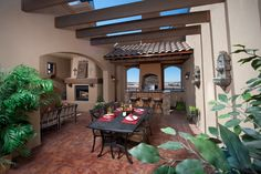 Gorgeous signature outdoor living space by Gl Green & Associates. 4112 Calle Belleza in Las Cruces, NM.