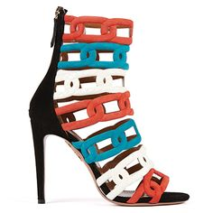 Chain Me Up #Bootie | AQUAZZURA - #Multicolor moulded suede and elaphe #sandal
