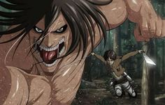 Um, if Eren is there and his titan form is unleashed then WHO'S CONTROLLING THE FUCKING TITAN?!