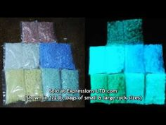 Expressions LTD Glow In The Dark Rocks Chips and Sand Dust for Concrete, Photoluminescent – Expressions-LTD