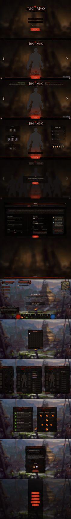 RPG & MMO 5 - Grunge and Dark UI - Unity Asset Store