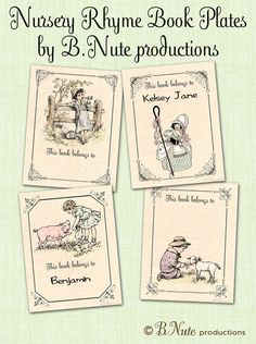 bnute productions: Free Printable Nursery Rhyme Book Plates