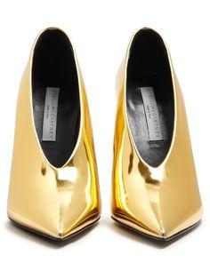 Stella McCartney High-cut point-toe pumps