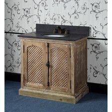 """WK Series 36"""" Single Sink Solid Fir Wood Bathroom Vanity Set with Mirror"""