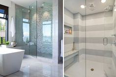 Your #bathroom_looks_boring_with_that_old_glass_door! Its time to invest in a shower fixture with textured or milky glass by S & D Glass Company.