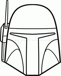 Easy to Draw Star Wars Characters   how to draw boba fett easy step 6