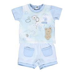 Brums - Completo maglietta e pantaloncini jersey tinto filo - Outletbambini.it