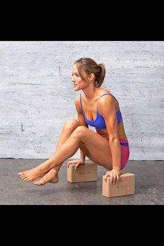 Yoga blocks or Pilates blocks workout. For core and arms. Low impact good balance and toning exercise.