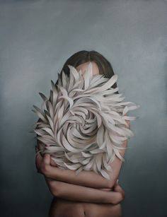 Hiding Behind The Moon by Amy Judd Art
