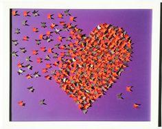 Orange and Purple butterflies painting Sparkling Art by Gabiworks