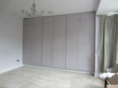 A full bank of bespoke wardrobes filling the entire bedroom wall (image 1 of 3) Bespoke Wardrobes, Closet Colors, Bedroom Storage, Bedroom Wall, Loft Bathroom, Dressing Rooms, Armoires, Storage Ideas, Closets