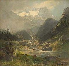 Carl Schultze (1856-1935) Great Paintings, Fashion Art, Art Styles, Mountains, Rivers, Nature, Travel, Artists, Country