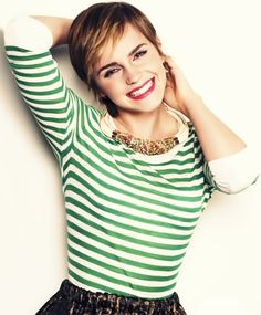 stripes, green, and Miss Watson -- what's not to love?