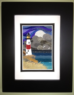 """""""Stormy Seas"""",  2012, framed leather artwork by Sara MacIntyre, Steep Creek Designs"""