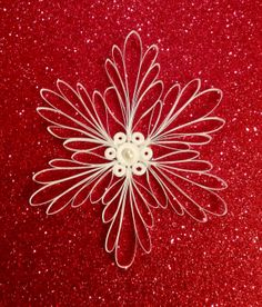 Paper Snowflake Quilled Snowflake Paper Filigree Christmas Ornament