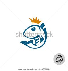 Fish logo template