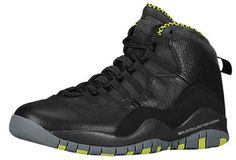 "Air Jordan 10 Retro    Black/Cool Grey-Anthracite-Venom Green   Last week, we shared the first look at the upcoming ""Venom Green"" Air Jordan 10 Retro and now we have it's official release date. Featuring a Black leather base with Anthracite hints and Venom Green accents that will be launching on Saturday, March 22nd in a full-size run.   March 22nd, 2014 $170"