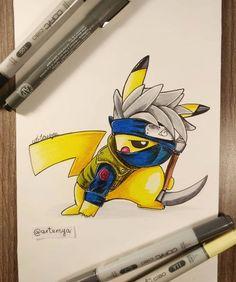 pikachu by Artensya Art Visit Our Website Naruto Drawings, Cute Drawings, Kakashi Drawing, Anime Naruto, Otaku Anime, Naruto Kakashi, Deadpool Pikachu, Pikachu Art, Cute Pokemon Wallpaper