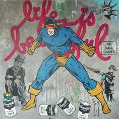 Work in progress Street art on canvas 120x120cm