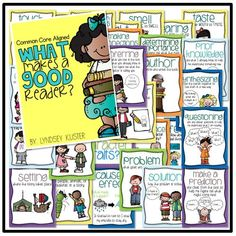 reading strategy posters....place a frame around the strategy you are focusing on that week...genius!