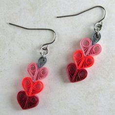 quilled heart earrings