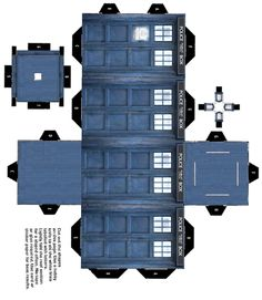print, cut out,  fold Tardis - oh yeah i'm making this guy!