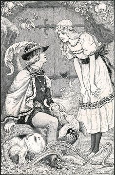 Frank Cheyne Papé ~ The Story of the Queen of the Gnomes and the True Prince from The Story of the Little Merman by Ethel Reader ~ 1909 ~ via Fairytale Fantasies, Fairytale Art, Satanic Art, Merman, Illustration Art, Illustrations, Creative Illustration, Fairy Tales, Art Drawings