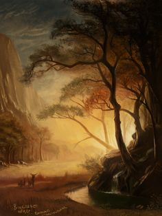 Master study - Albert Bierstadt by RaymondMinnaar.deviantart.com on @deviantART